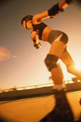 woman-rollerblading